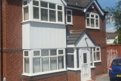 White PVCu Windows and door double glazing